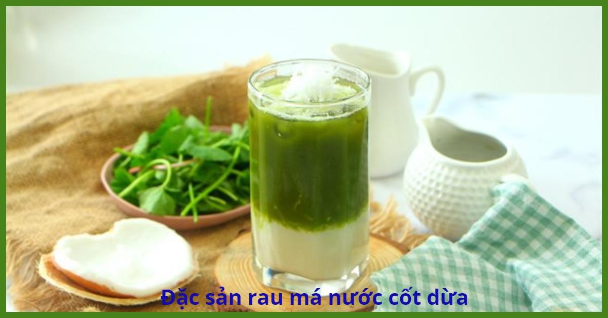 Sinh tố rau má nước cốt dừa
