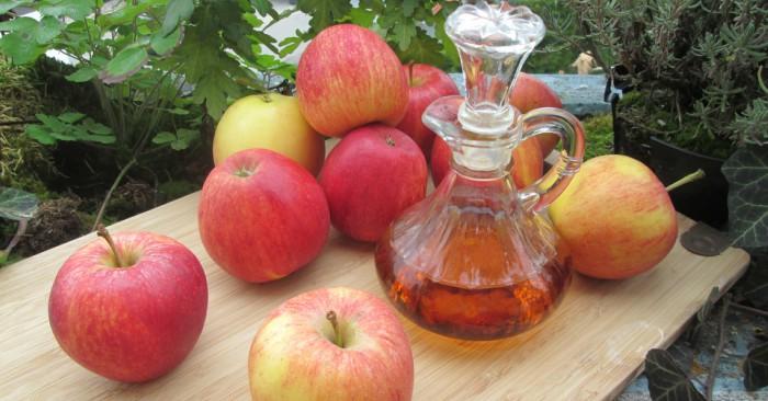 """Giấm táo (tiếng Anh: apple cider vinegar) được tinh chế từ táo tươi, là một phương pháp giảm cân được lưu truyền từ xưa trong dân gian tại các nước Tây Âu. Giấm táo rất tốt cho sức khỏe nhờ vào thành phần chứa 4-8% axit axetic . Axit axetic là một loại axit yếu với công thức hóa học là CH3COOH. Độ mạnh của một axit được đánh giá dựa vào khả năng hoặc khuynh hướng mất proton (H+), theo đó, một axit yếu chỉ tách được một phần H+ khi tác dụng với các chất khác. Phần lớn phần còn lại của giấm táo là nước. giấm táo là một loại kháng sinh"""" Tự nhiên"""" đa năng"""