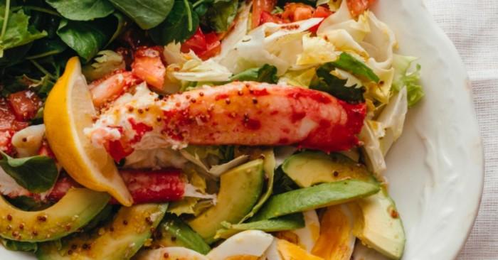 Salad cua king crab kiểu Nhật ăn khá lạ miệng