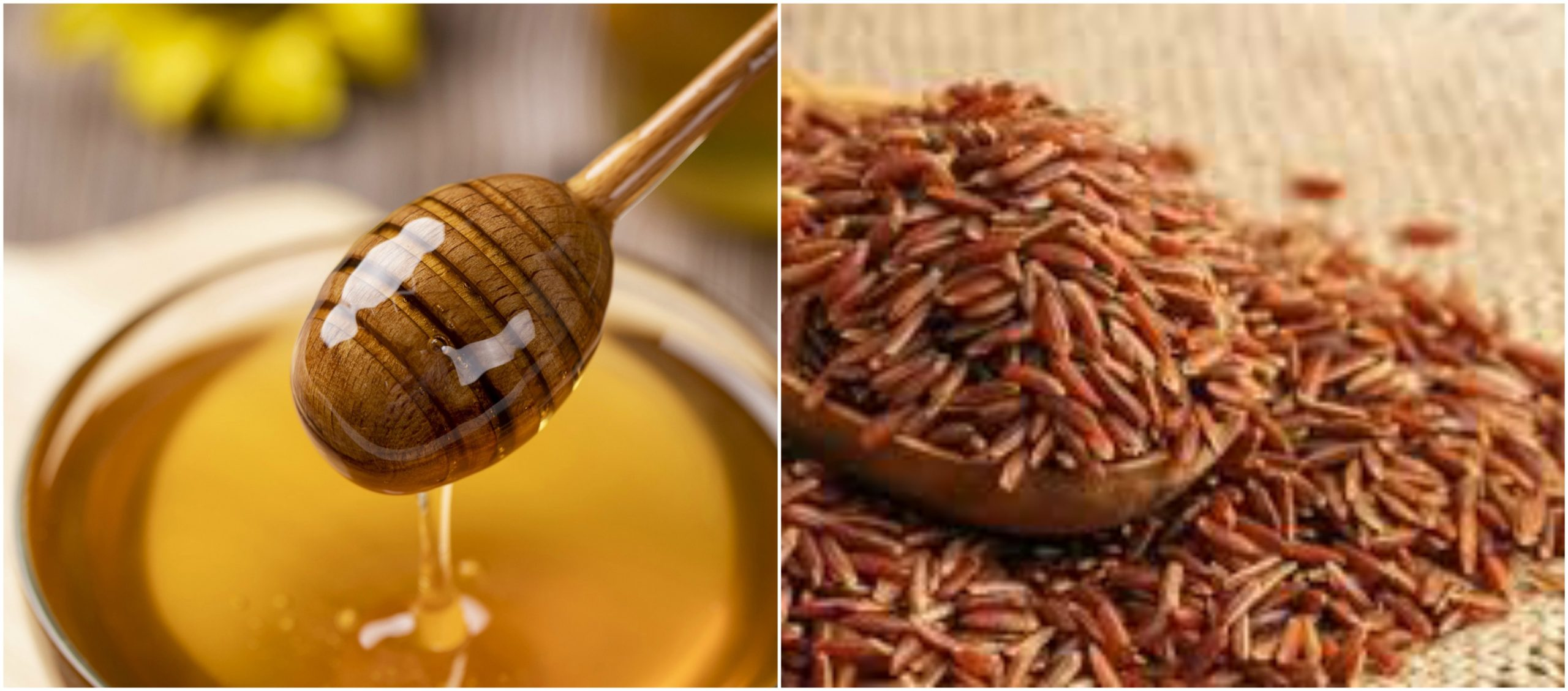 """Mật ong có nhiều chất ngọt hơn đường kính và có các tính chất hóa học hấp dẫn cho việc làm bánh, thức uống và làm thuốc chữa bệnh.[2] Mật ong có hương riêng biệt nên nhiều người thích ăn mật ong hơn đường và các chất ngọt khác.Gạo lứt, còn gọi là gạo rằn, gạo lật là loại gạo chỉ xay bỏ vỏ trấu, chưa được xát bỏ lớp cám gạo. Đây là loại gạo rất giàu dinh dưỡng đặc biệt là các sinh tố và nguyên tố vi lượng. Do trong phương ngôn tiếng Việt Nam Bộ """"lứt"""" và """"lức"""" đồng âm, đều được đọc là /lɨk/ nên gạo lứt còn được viết là """"gạo lức""""."""