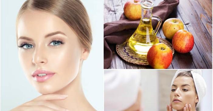 Giấm táo là mỹ phẩm tuyệt vời trong trị mụn và làm cho làn da luôn sáng mịn.
