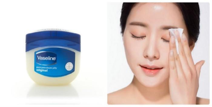 sáp dưỡng ẩm vaseline với nhiều công dụng trong làm đẹp như khóa ẩm cho làn da. bên cạnh đó nó được  sử dụng như một chất tẩy trang an toàn và hiệu quả.