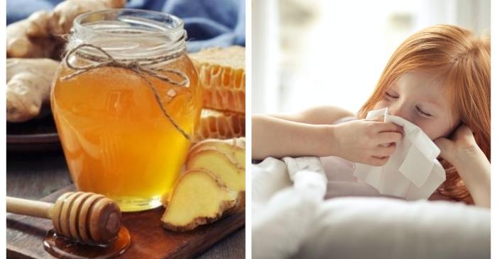 Trẻ nhỏ thường bị cảm cúm ho khi thời tiết thay đổi. Sử dụng siro gừng mật ong rất tốt cho bé.