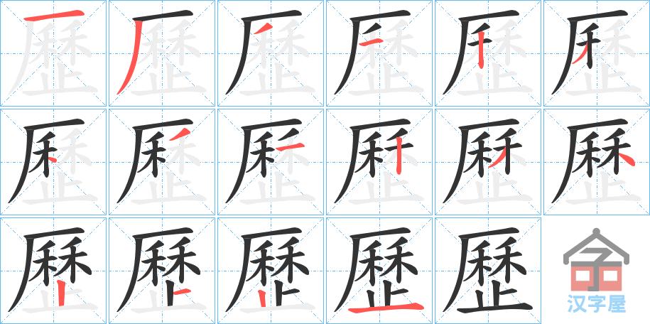 Từ vựng tiếng Trung sách Chuyển Pháp Luân - chữ lịch (trong từ lịch sử)