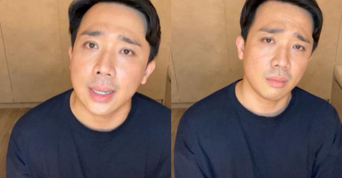 """Trấn Thành livestream đính chính câu nói """"xem Bố Già vì có vấn đề tâm lý"""""""