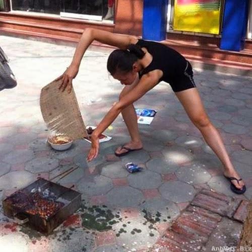 hình ảnh độc lạ hài hước: kungfu quạt than