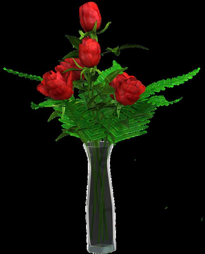 Cách cắm hoa hồng lọ cao đơn giản