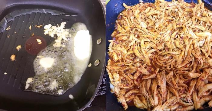 So với khô gà lá chanh có vị the nhẹ của lá chanh, hoặc khô gà Tứ xuyên cay xé lưỡi , món khô gà...