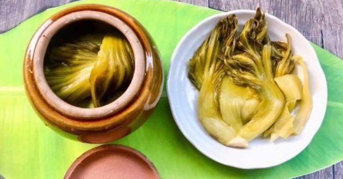 cách muối dưa cải bằng nước vo gạo hương vị đậm đà