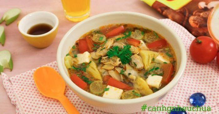 Cách nấu canh ngao đậu phụ ngon ngọt tại nhà