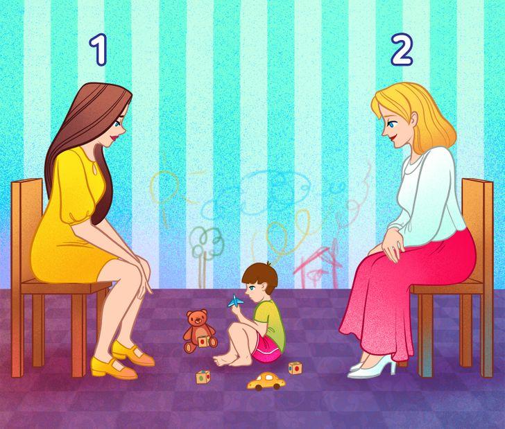 Câu đố: Ai là mẹ đứa trẻ?