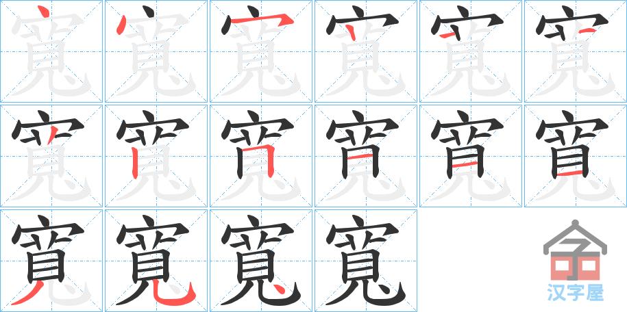 Học từ vựng tiếng Trung có trong sách Chuyển Pháp Luân - chữ khoan; học tiếng trung; từ vựng tiếng trung; tự học tiếng trungl học tiếng trung online; học tiếng trung cơ bản; hoc tieng trung; khởi đầu
