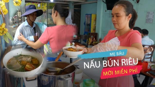 Quán bún riêu đặc biệt của mẹ bầu Sài Gòn