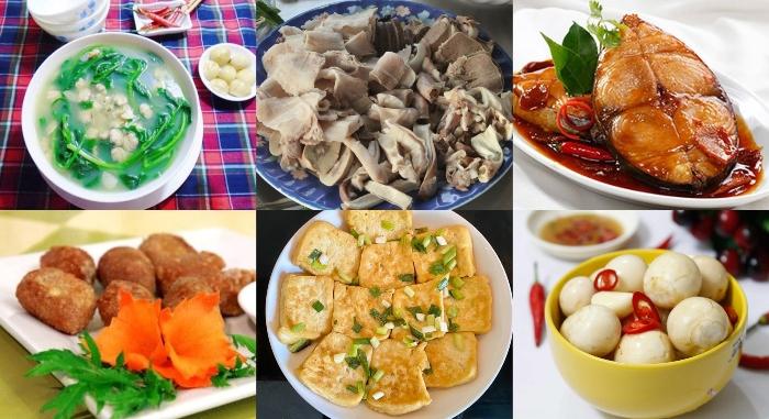 Món ngon mỗi ngày, thân khoẻ, tâm an, trí tuệ minh... món ngon mỗi ngày cho gia đình; món ăn cơm ngon mỗi ngày.