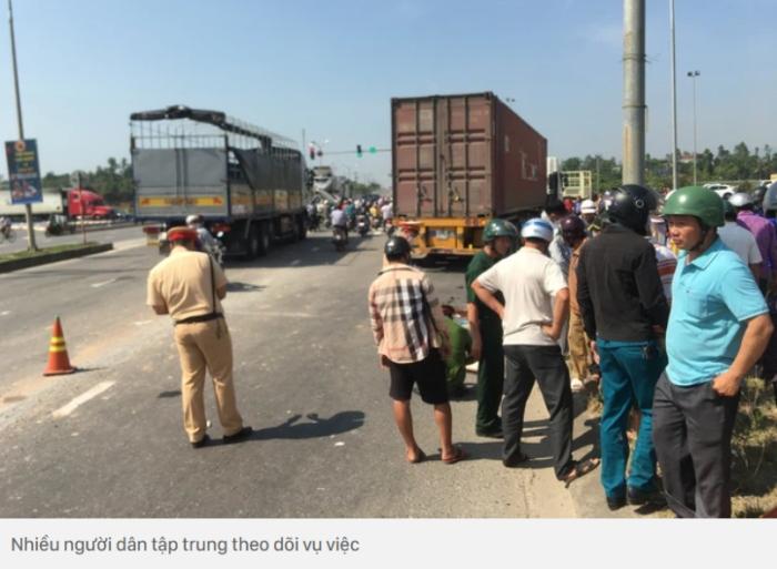 Người phụ nữ tử vong thương tâm dưới gầm container khi đi khám bệnh