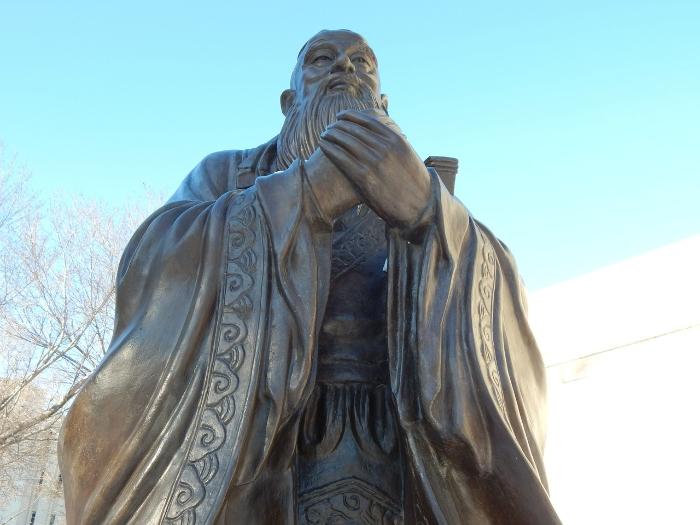 Tượng Khổng Tử; làm giàu; cách làm giàu; nghĩ giàu làm giàu; dạy con làm giàu; trở thành tỷ phú