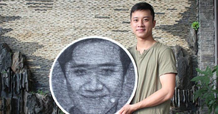 9x dùng chỉ và đinh để vẽ chân dung những người nổi tiếng