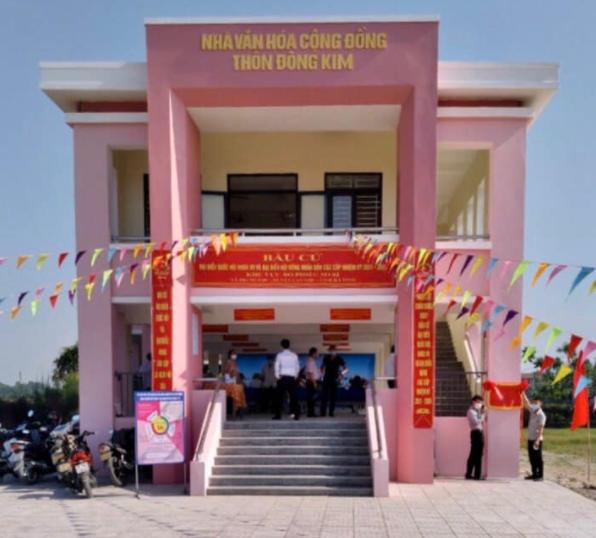 Một căn nhà cộng đồng chống lũ được xây ở Hà Tĩnh vừa hoàn thành tháng 5/2021