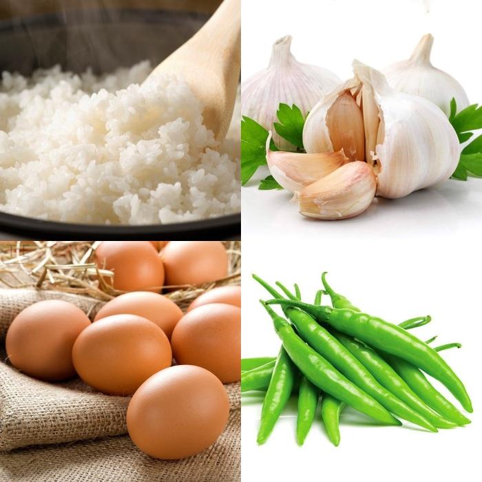 Cách làm cơm chiên muối ớt xanh hấp dẫn, lạ miệng; Cách làm cơm chiên muối é; Cách làm cơm rang muối trắng; Cơm chiên muối ớt đỏ; Cơm chiên muối ớt xanh Nha Trang.