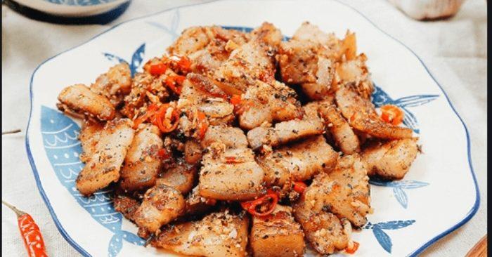 Cách làm thịt rang muối chuẩn vị đơn giản