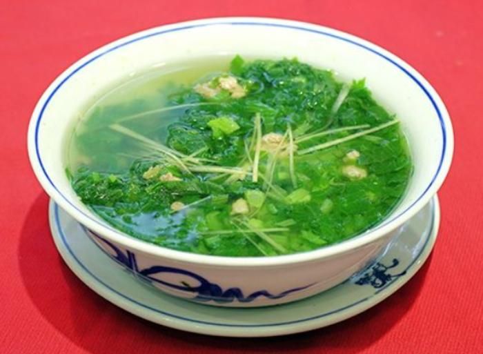 Tô canh cải bẹ xanh với gừng thơm ngon... Cách nấu canh cải bẹ xanh cá thác lác;