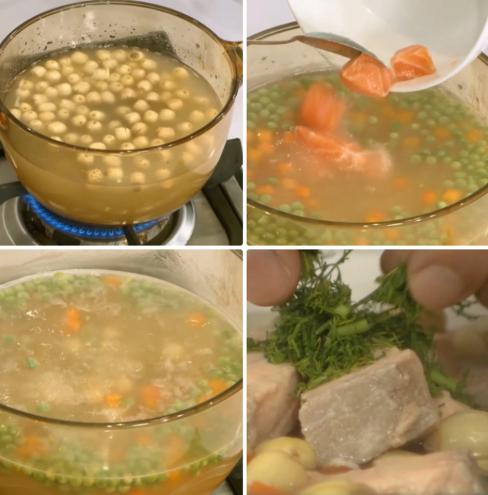 Cách nấu súp cá tầm; Cách nấu súp cá bớp; cách nấu súp cá hồi bí đỏ; súp cá hồi khoai tây;