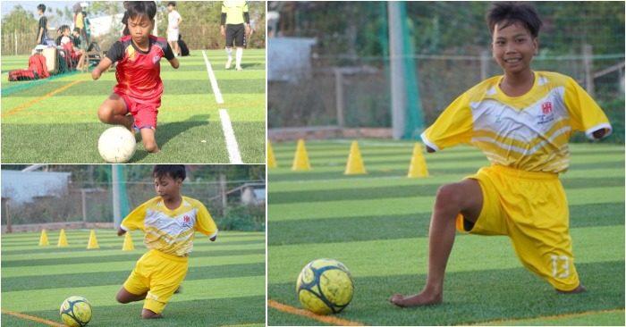 Câu chuyện về Đức - cậu bé khuyết tay chân trên phố núi Gia Lai đam mê bóng đá, trân trọng cuộc sống khiến nhiều người cảm động.