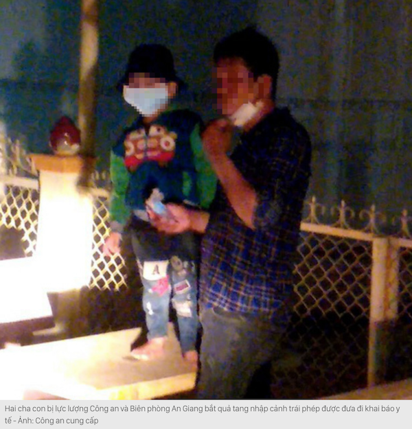Người cha đưa con trai bị sốt vượt biên trái phép từ Campuchia về Việt Nam (