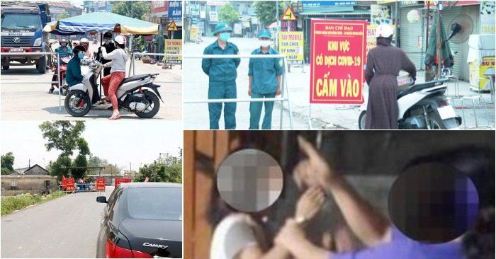 Năm người ở xã Phong An đã băng đường ruộng đi vào khu vực xã Phong Hiền (huyện Phong Điền, Thừa Thiên Huế) - nơi đang bị phong tỏa vì COVID-19 - để… đánh ghen.