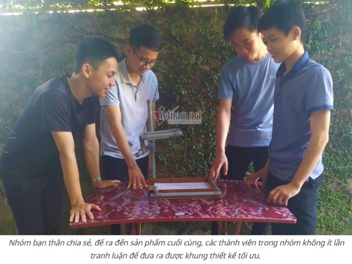 Hà Tĩnh: Học sinh sáng chế giá chấm bài thi trắc nghiệm giúp thầy cô đỡ vất vả