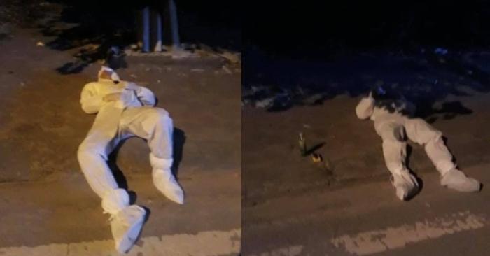 Xót xa 2 nhân viên y tế nằm vật bên đường vì quá mệt: 'thương các anh lắm, bao đêm không được ngủ rồi'...