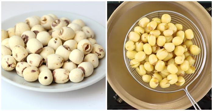 Loại chè hạt sen; Cách nấu chè hạt sen nhãn nhục; Cách nấu chè hạt sen đường phèn; Cách nấu chè hạt sen củ sen; Cách sử dụng hạt sen khô.