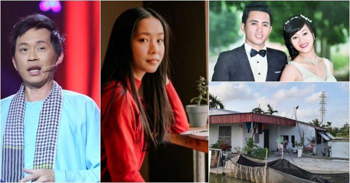 Từ trái qua: Nghệ sĩ Hoài Linh; nữ sinh Alexandra Huynh được vinh danh tại Mỹ; vợ chồng anh Trịnh Văn Khoa và căn nhà cấp 4.