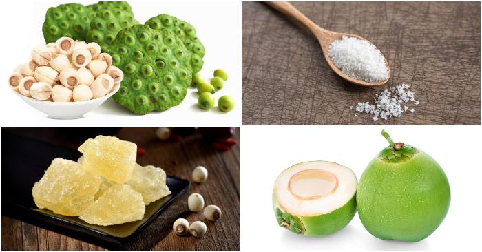 Nấu chè hạt sen đậu xanh; Cách nấu chè hạt sen thập cẩm; Cách nấu chè hạt sen đậu xanh nước cốt dừa; Cách nấu chè hạt sen đường phèn.