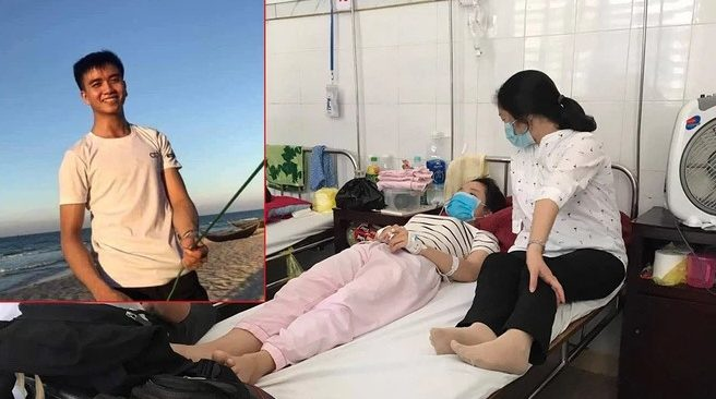 Lời kể của nữ sinh được cứu sống trước khi sinh viên Nguyễn Văn Nhã gặp sự cố ở biển.