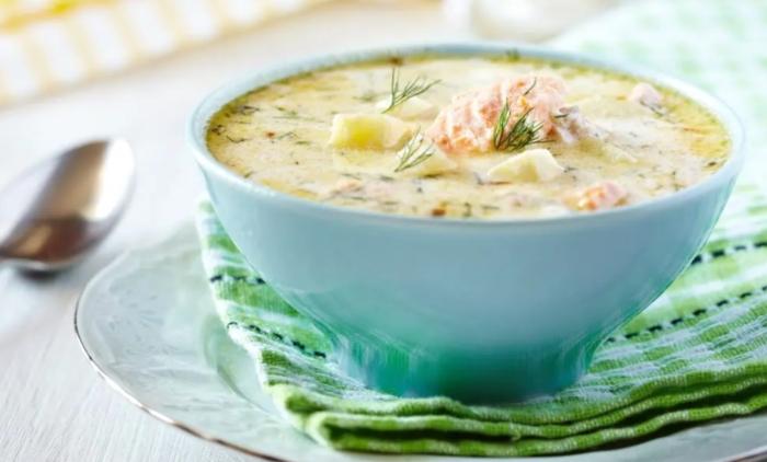 Cách nấu súp cá hồi ăn dặm cho em bé; súp cá hồi măng tây; súp Cá; súp cá hồi bí đỏ; súp cá hồi