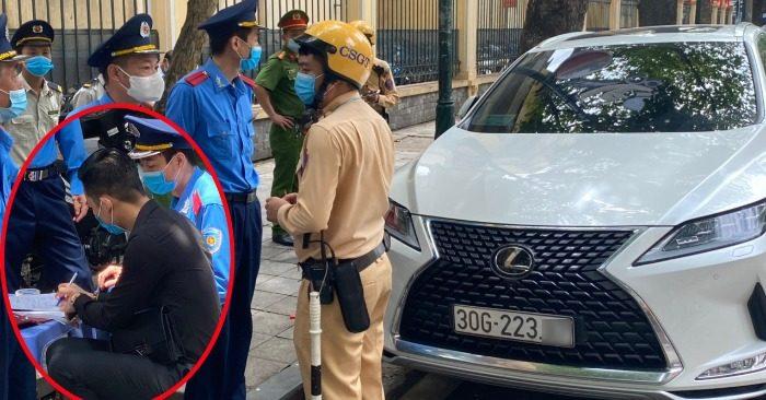 Đỗ xe Lexus sai, tài xế thách thức 'biết xe của ai không mà cấm đỗ?'