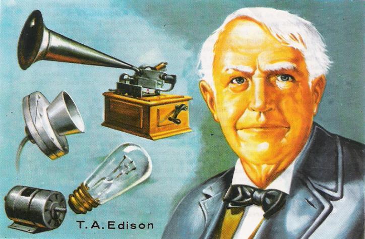 Thomas Edison và các phát minh của mình.
