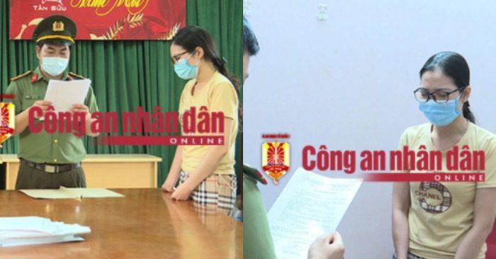 Chiều 4/5, công an Vĩnh Phúc đã đọc lệnh bắt giam đối với Nguyễn Thị Hồng Hạnh - người tiếp tay cho 52 người Trung Quốc lưu trú trái phép tại Việt Nam.