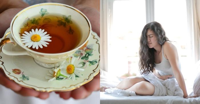 Đau bụng kỳ kinh nguyệt là nỗi lo của hầu hết chị em phụ nữ; Giá trà hoa cúc.