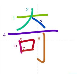 Học từ vựng tiếng Trung có trong sách Chuyển Pháp Luân - chữ kì; học tiếng trung; học tiếng trung; từ vựng tiếng trung; học tiếng trung cơ bản