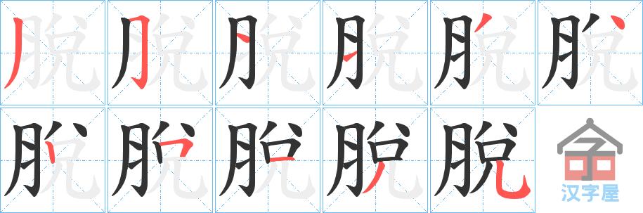 Học từ vựng tiếng Trung có trong sách Chuyển Pháp Luân - chữ thoát; học tiếng trung; học tiếng trung; từ vựng tiếng trung; học tiếng trung cơ bản