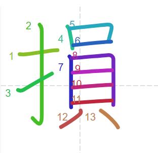 Học từ vựng tiếng Trung có trong sách Chuyển Pháp Luân - chữ tổn; học tiếng trung; học tiếng trung; từ vựng tiếng trung; học tiếng trung cơ bản