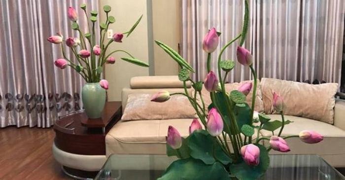cách cắm hoa sen nghệ thuật; cách cắm hoa sen đơn giản