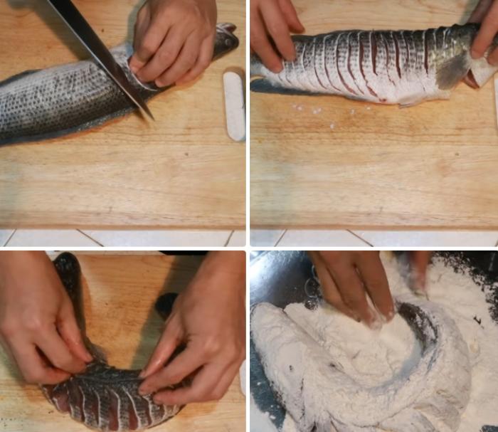 Cách làm cá lóc chiên xù giòn; Cá lóc chiên sả; Cá lóc chiên mắm xoài; Cá chiên nước mắm; Cá lóc chiên tỏi ớt; Cá chiên xù;