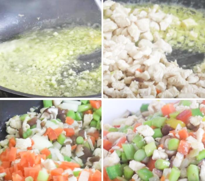 Cách làm cơm chiên cơm cuộn; Cơm chiên trứng Hàn Quốc; Cách làm trứng cuộn cơm; Cách làm cơm chiên phủ trứng; Cách làm cơm cuộn trứng Hàn Quốc.