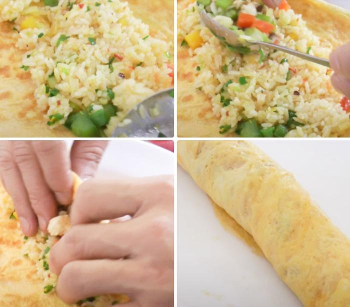 Cách làm cơm chiên cuộn trứng hàn quốc; làm kimbap chiên giòn; Cách làm cơm cuộn trứng; Cách làm kimbap; Cách làm cơm cuộn chiên.