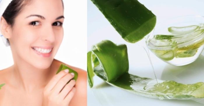 làn da sáng hồng khỏe mạnh nhờ các dưỡng chất trong nha đam.  cách làm gel nha đam; cách làm gel nha đam tại nhà đơn giản nhất;
