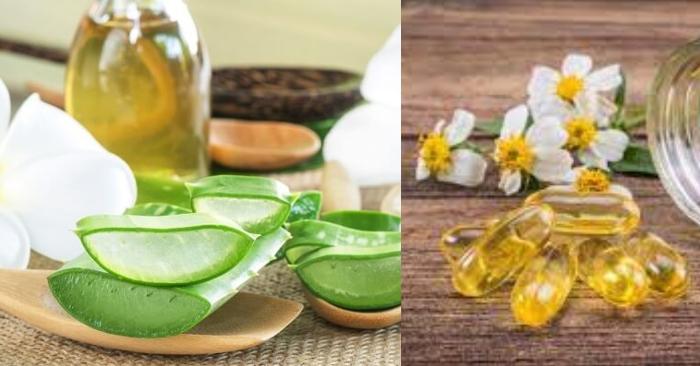 """Dầu dừa và vitamin E được biết đến như những """"vị cứu tinh"""" của làn da phái đẹp nhờ những công dụng tuyệt vời. Dầu dừa có khả năng giữ ẩm cao, tăng sức đề kháng cho da và ngăn ngừa sự lão hóa; vitamin E tăng cường collagen giúp điều trị các chứng thâm, nám, chống nhăn."""