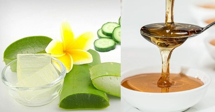 cách làm gel nha đam với mật ong; cách làm gel nha đam đặc sệt;  cách làm gel nha đam trị mụn; kết hợp giữa hai nguyên liệu tự nhiên mật ong và nha đam giúp tái tạo da và dưỡng da trắng mịn.